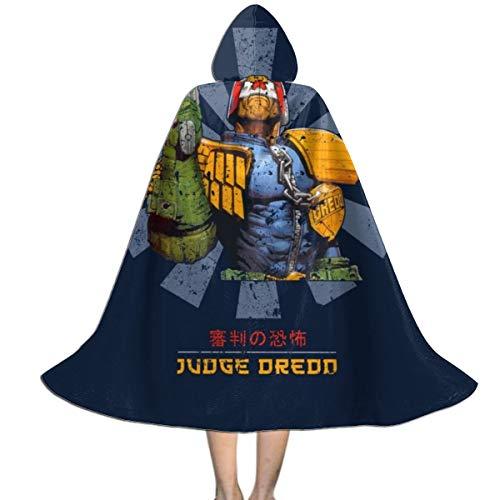 NUJSHF Judge Dredd Retro Japanische Unisex Kinder Kapuzenumhang Umhang Cape Halloween Weihnachten Party Dekoration Rolle Cosplay Kostüme (Dredd Cosplay Kostüm)
