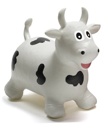 Happyhopperz hhz20 gonfiabile toro, bianco