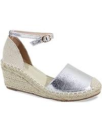 Amazon.fr   Argenté - Espadrilles   Chaussures femme   Chaussures et ... 1eee54040a7c