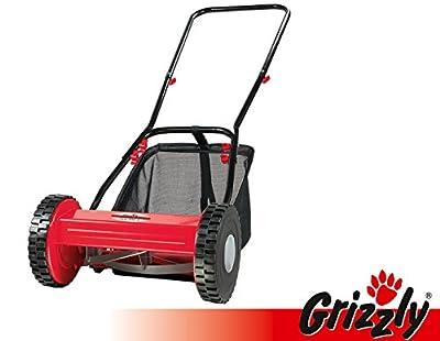 Grizzly Hand Rasenmäher Spindelmäher HRM 300-3 mit Fangsack, 30 cm Schnittbreite, umweltschonend, geräuscharm