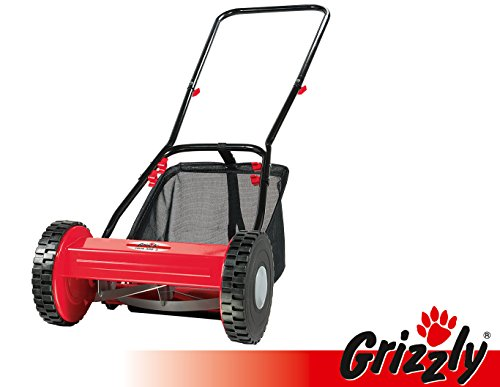 grizzly tagliaerba manuale elicoidale hrm 300-3 con cesto di raccolta