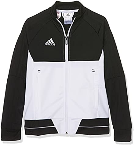 adidas Kinder Tiro 17 Polyester Jacke, Black/White, 152