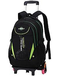 Trolley mochilas escolares, mochilas enrollables Mochilas escolares con seis ruedas escaladas escaleras