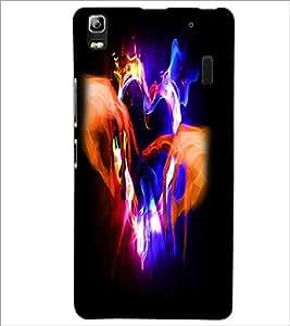 PrintDhaba Digital Heart D-2210 Back Case Cover for LENOVO A7000 (Multi-Coloured)