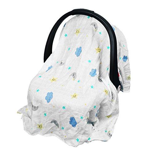 MagiDeal Mehrzweck-Decke, zum Stillen, für Babys, geeignet als Abdeckung für den Autositz, Überdachung für den Einkaufswagen, zum Wickeln, Decke für Säuglinge/Neugeborene/Kleinkinder - Wolke