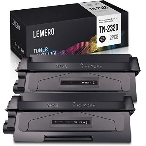 LEMERO 5,200 Seiten TN-2320 Toner für Brother TN2320 2310 Kompatibel für Brother MFC-L2700DW DCP-L2520DW HL-L2340DW HL-L2300D MFC-L2720DW DCP-L2560DW DCP-L2500D HL-L2365DW L2360DN (2xSchwarz)