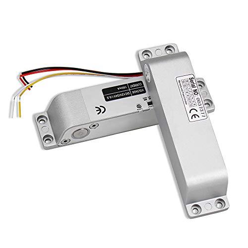 HFeng Falla segura DC12V cerradura de la puerta de mortaja de cerrojo