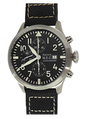 Herren Uhr Chronograph Quartz Lederband wasserdicht