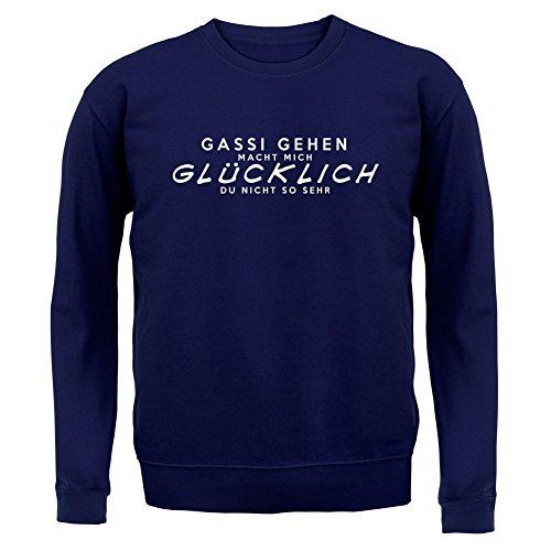 Gassi gehen macht mich glücklich - Unisex Pullover/Sweatshirt - 8 Farben Navy