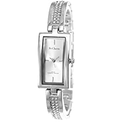 Rectangle Ladies Watch So Charm Made with Swarovski Crystal from