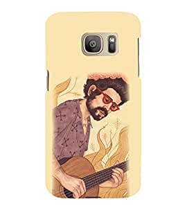 EPICCASE man with guitar Mobile Back Case Cover For Samsung Galaxy S7 Edge (Designer Case)