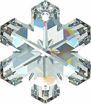 Swarovski Anhänger Elements Schneeflocke 30.0mm (Crystal), 1 Stück