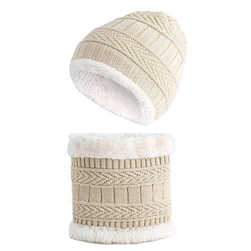 Easy Go Shopping Bonnet tricoté pour Enfants Set de Bonnet pour bébé Earflap Toddler Chaud pour l'automne Hiver. (Couleur : Kaki)