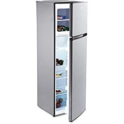 KLARSTEIN Height Cool Combiné réfrigérateur (199 litres, congélation 53 L, bac à légumes, Compartiment Porte, Acier INOX) - Argent