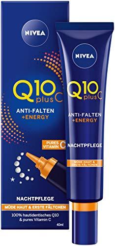 Nivea Q10 Plus C Anti-Falten, Energy-Recharge Gute-Nacht-Pflege, 1er Pack (1 x 40 ml), für müde Augen und erste Fältchen