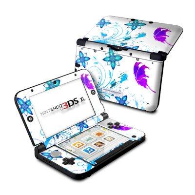 Nintendo 3DS XL Skin Schutzfolie Design modding Sticker Aufkleber - Butterfly Schmetterling - Flutter