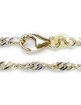 ASS 333 Gold Damen Kinder Fantasie Bicolor Armband , 1,5 mm breit 19 cm lang
