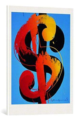 kunst für alle Leinwandbild: Andy Warhol Dollar - hochwertiger Druck, Leinwand auf Keilrahmen, Bild fertig zum Aufhängen, 60x80 cm (80 Dollar Artikel)