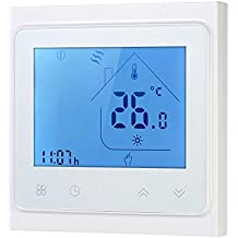 Decdeal 16A Termostato de la Calefacción Eléctrica,Termostato Programable,Pantalla Táctil LCD Regulador de