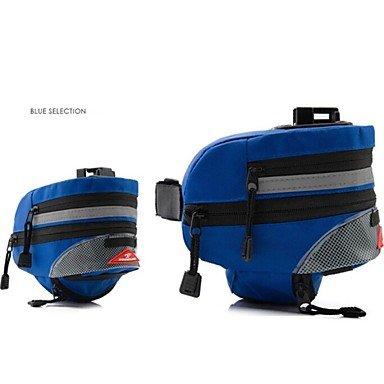 ZXC/Basecamp? Modische Fahrrad Tasche Satteltasche theftproof Pack mit Reflektorstreifen W14 Blau