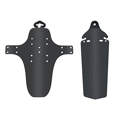 LEvifun Fahrrad Radfahren Vorne Hinter Fahrrad Fender Set Einziehbar Schutzblech Steckschutzblech Mudguard A1 (Schwarz)