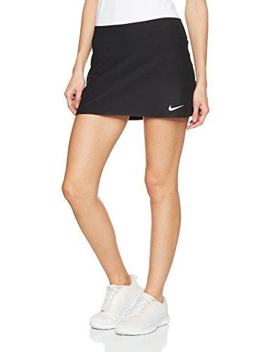 Nike Damen Court Power Spin Tennisrock, Black/White, M