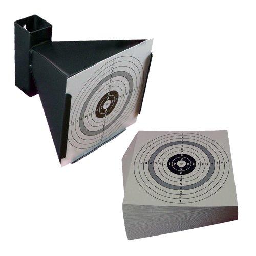 Trichterkugelfang für Druckluftwaffen und 10 shoot-club Zielscheiben im Format 14x14 cm zu shoot-club24