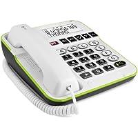 Doro Secure 350 Telefono a filo con tasti grandi e tasto di emergenza, Bianco - 3 Pulsante Analogico