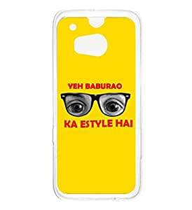 a AND b Designer Printed Mobile Back Cover / Back Case For HTC One M8 (HTC_M8_689)