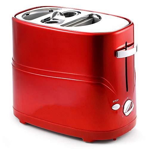 IOIOA Abnehmbare Pop-up Hot Dog Toaster Brotbackautomat, Haus automatisches Mini mit Kochzeit einstellbar einfachem Frühstück Brot-Maschine zu reinigen