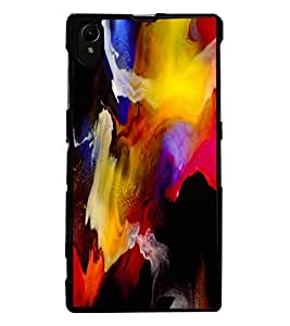 ColourCraft Abstract Art Design Back Case Cover for SONY XPERIA Z1