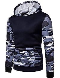 Camisa Delgada Chaqueta de los Hombres Camisa Deportiva de Camuflaje  Impresa con Capucha suéter de Manga 61e858195a5