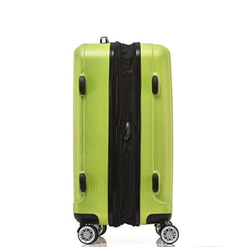 BEIBYE TSA-Schloß 2080 Hangepäck Zwillingsrollen neu Reisekoffer Koffer Trolley Hartschale Set-XL-L-M(Boardcase) in 12 Farben (Grün, 3tlg. Kofferset) - 4