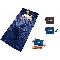 Ideal f/ür Reisen Sommerschlafsack Kuncg Atmungsaktiv H/üttenschlafsack Schlafsack Inlay leicht /& kompakt Reiseschlafsack d/ünn