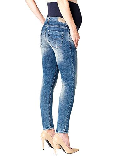 Esprit Maternity Pants Denim Otb Slim, Jeans-Maternité Femme Bleu - Blau (Stonewash 930)