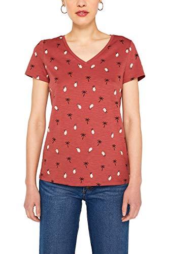 ESPRIT Damen 059EE1K039 T-Shirt, Rosa (Blush 665), Medium (Herstellergröße:M) -