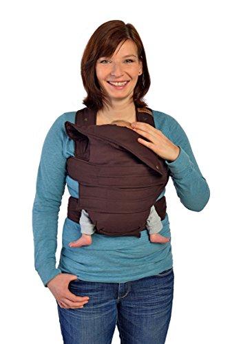 Marsupi Baby und Kindertrage I kompakte Bauch und Hüfttrage I S/M I braun/chocolate I genial einfach