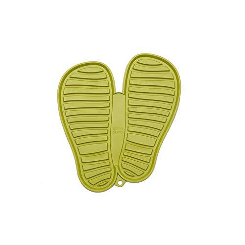 Sanni Shoo, shoo.pad, flexible, waschmaschinen-feste Schuh-Abtropf-Matte, Schuhablage, Schuhabtropfschale, Abtropf- und Schmutzfang-Matte für Schuhe L (bis Schuhgrösse 47), grün