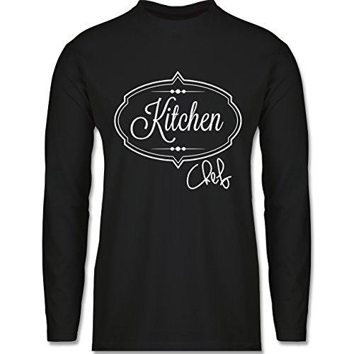 Küche - Kitchen Chef Küchenchef - Longsleeve / langärmeliges T-Shirt für Herren Schwarz