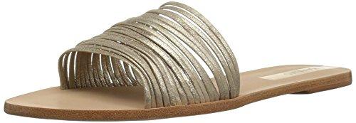 KAANAS Damen GUANABARA Multi Strap Flat Slide Leather Flache Sandale, Gold, 42 EU Leather Multi-strap Sandalen