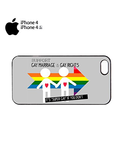 Support Gay Marriage And & Rights It's Super Gay If You Mobile Phone Case Cover iPhone 4&4s Black Noir
