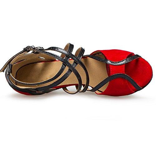 Minitoo ,  Damen Jazz, modern , Rot – Red-6cm Heel – Größe: 40 - 4