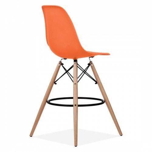 D & S inspiriert Eiffelturm Stil Frühstück Bar Hocker mit Beine aus Holz (orange, 2) Hocker Mit Eiffelturm