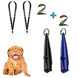 Black Lion 2 Hochfrequenz Hundepfeifen im Set + 2 Premium Bänder   um lästiges Bellen zu stoppen & Kontrolle zu erlangen   Ideal fürs Training   hochwertige Profi-Hunde-Pfeife   Zubehör   Hund