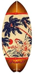 Mini planche de surf en bois Hawaïen Hula 50,8cm Vintage par 21,6cm