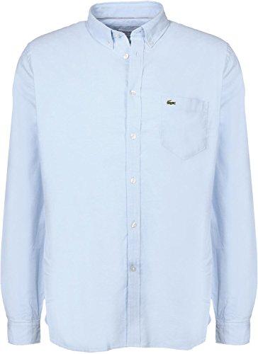 Lacoste Sport Oxford Langarmhemd lagon/blanc