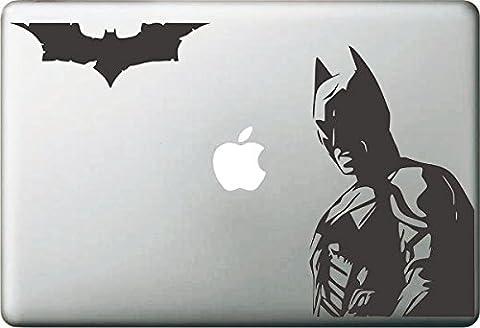 Vati Blätter Removable kreative Batman And Friend Aufkleber Aufkleber Skin Art Schwarz für Apple Macbook Pro Air Mac 13