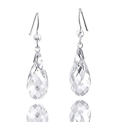 Materia Suspension–Boucles d'Oreilles Pendantes Gouttes argent 925Boucles d'oreilles avec cristaux