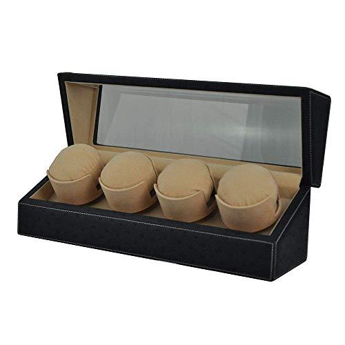 KYCD Mechanische Uhrenbeweger Automatik, Holz Automatik Uhrenbox Aufbewahrungsbox passend für Damen und Herren