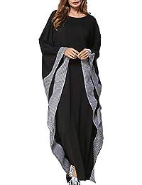 Abaya Dubai Musulman Kaftan Mujer - Maxi Ropa Vestidos Arabe Jalabiya Largos Manga Larga Tartán